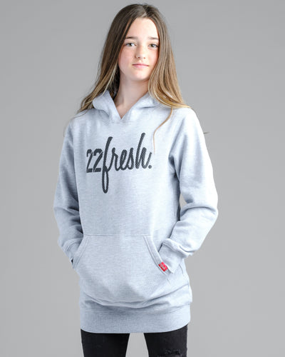 Girls Mesh Hoodie Dress - Heather Grey