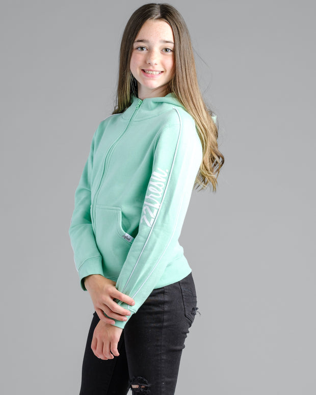 Girls Mock Zip - Fresh Mint