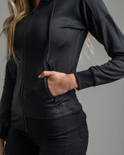 Women's Warmup Zip Hoodie - Black