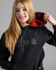 Holiday '20 Collection: Lil' 22Fresh Check Hoodie - Black