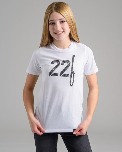 Holiday '20 Collection: Lil' 22F Split Tee - White