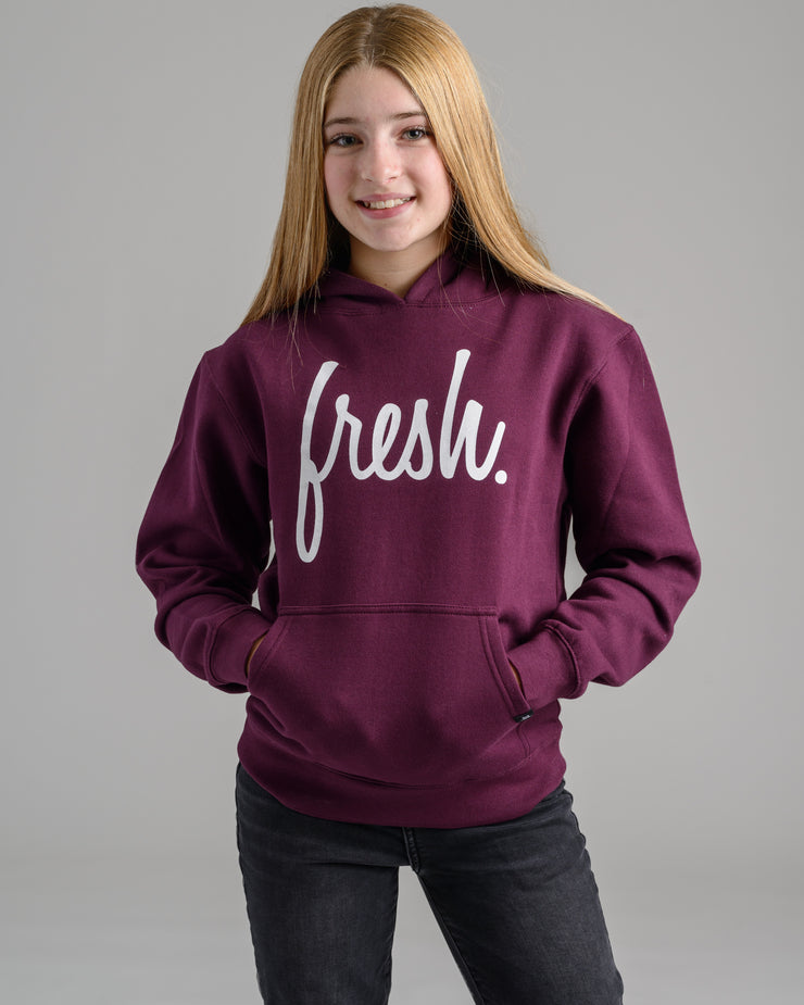 Holiday '20 Collection: Lil' Fresh Hoodie - Oxblood