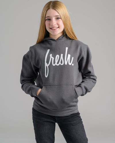 Holiday '20 Collection: Lil' Fresh Hoodie - Asphalt