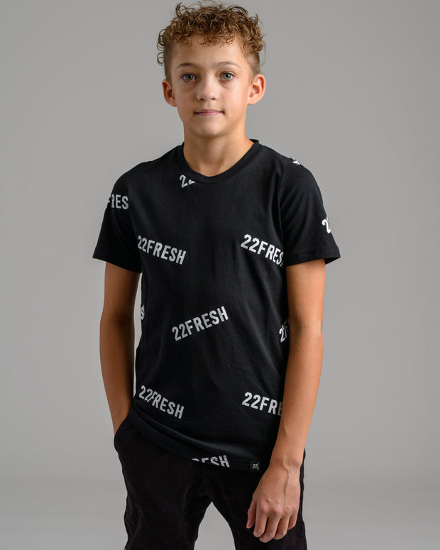 Holiday '20 Collection: Lil' 22Fresh AOP Tee - Black