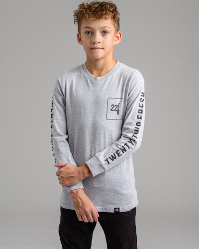 Lil' 22F L/S Tee - Heather Grey