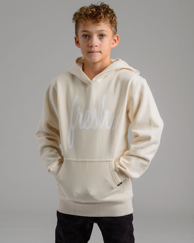 Holiday '20 Collection: Lil' Fresh Hoodie - White Sand