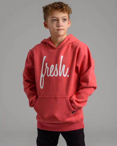 Holiday '20 Collection: Lil' Fresh Hoodie - Burnt Coral