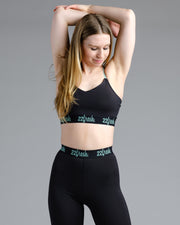 Pose Sports Bra - Black/Fresh Mint