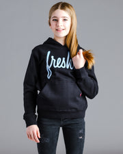 Lil' Fresh Hoodie - Black with Electric Blue