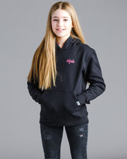 Lil' Static Hoodie - Black with Electric Pink