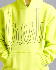 Lil' Bold Fresh Hoodie - Limeade with Black