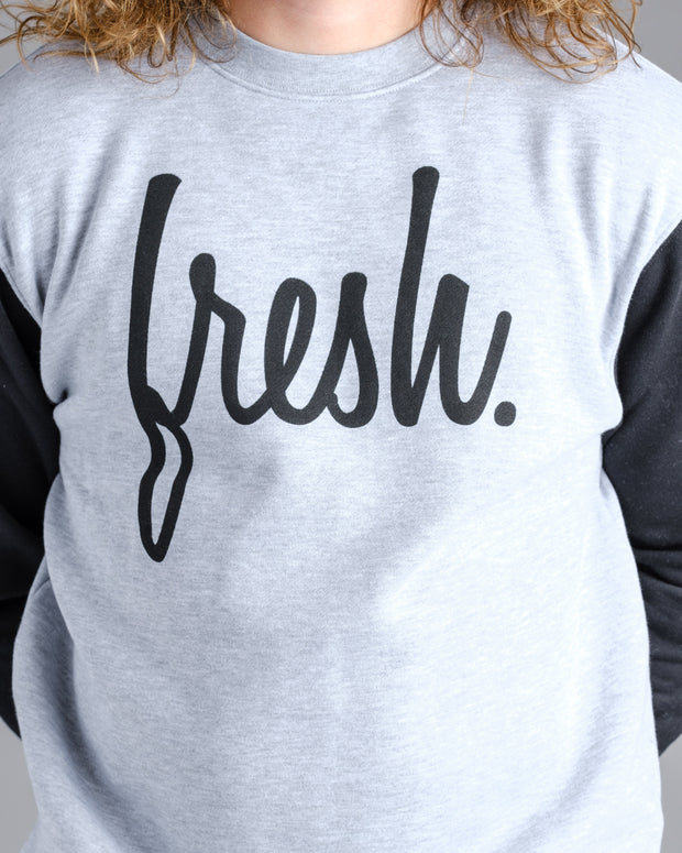 The Fresh Crewneck - Heather Grey