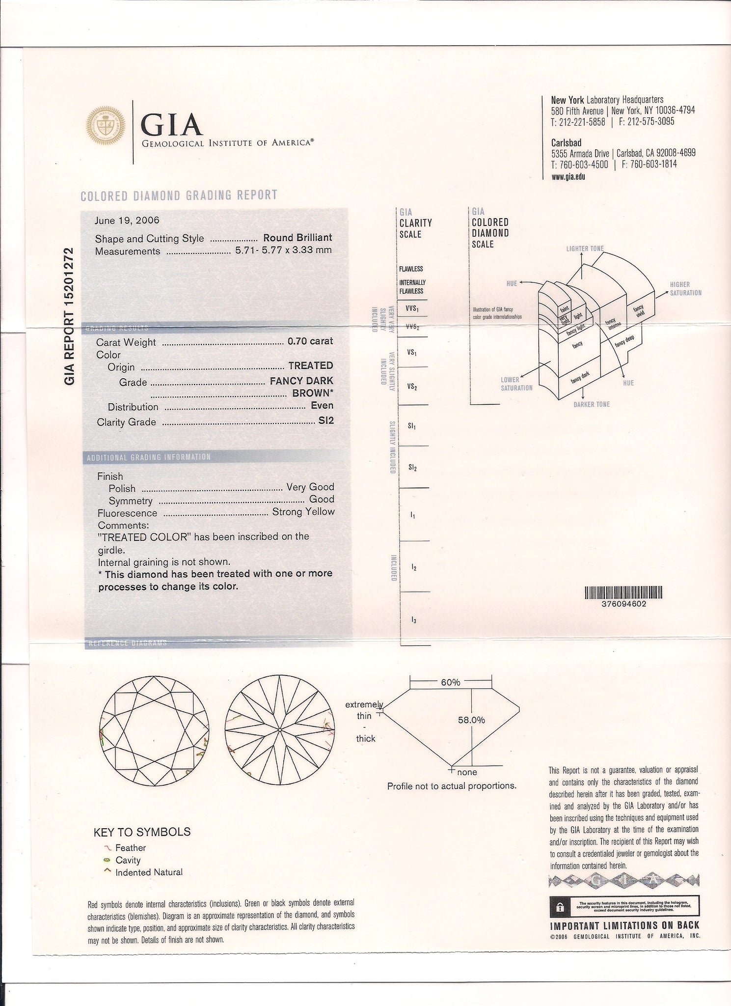 Gia Report Number 15201272 Lucent Diamonds