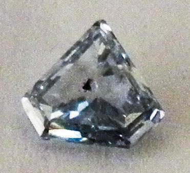 0.47 Ct. Triangle SI3 Fancy Medium Blue