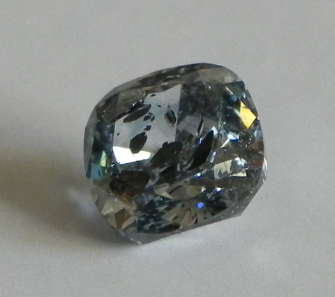 1.92 Ct. Cushion I3 Fancy Medium Blue