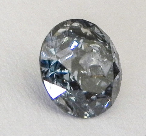 1.10 Ct. Round Brilliant I2 Fancy Medium Blue