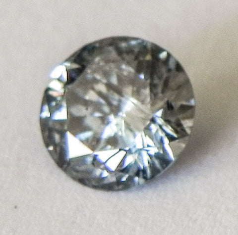 1.28 Ct. Round Brilliant I2 Fancy Medium Blue