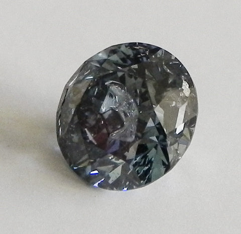1.07 Ct. Round Brilliant I3 Fancy Medium Blue