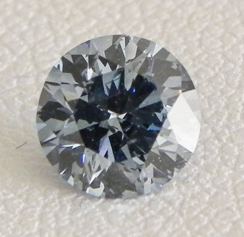 0.82 Ct. Round Brilliant SI2 Fancy Medium Blue