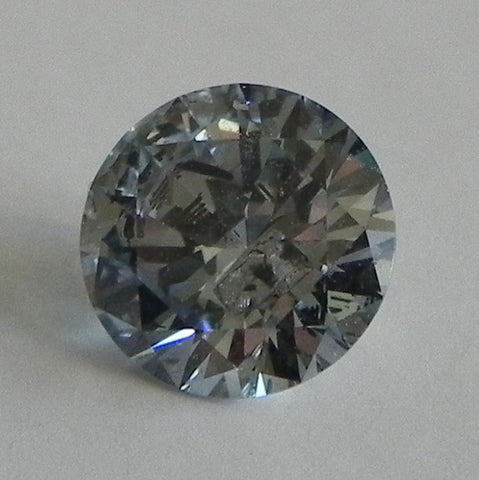 1.01 Ct. Round Brilliant I2 Fancy Medium Blue