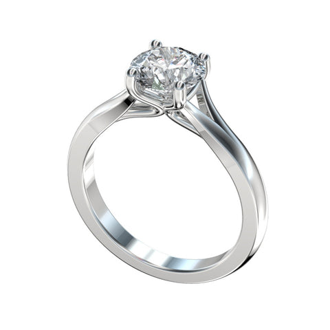 Faux Trellis Split Solitaire Engagement Ring (Setting Only)