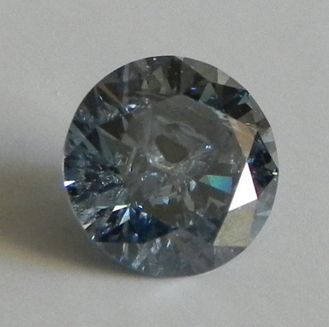 1.35 Ct. Round Brilliant I3 Fancy Medium Blue