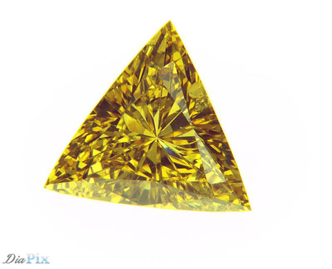 0.54 Ct. Triangle SI2 Fancy Intense Orangy Yellow