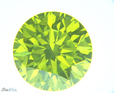 1.62 Ct. Round Brilliant SI2 Citrus Fancy Vivid Green-Yellow