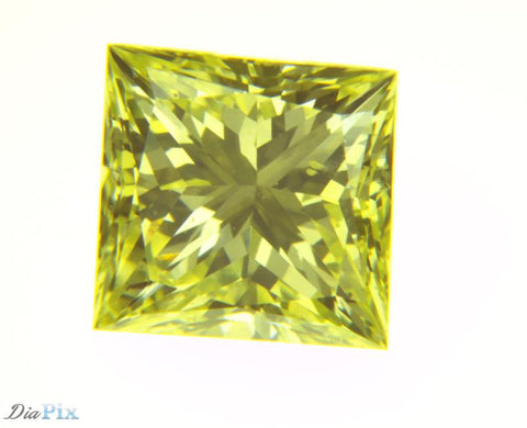 0.84 Ct. Princess VS1 Fancy Yellow