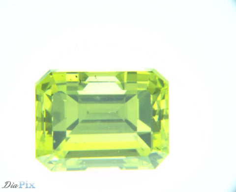 1.12 Ct. Emerald VS2 Citrus Fancy Vivid Greenish Yellow