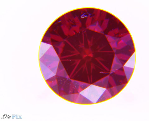 0.42 Ct. Round Brilliant I1 Fancy Deep Pink