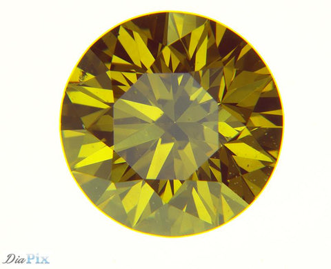 0.40 Ct. Round Brilliant VS2 Fancy Intense Orange Yellow