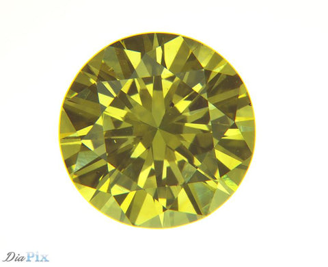 0.57 Ct. Round Brilliant VS2 Fancy Intense Yellow
