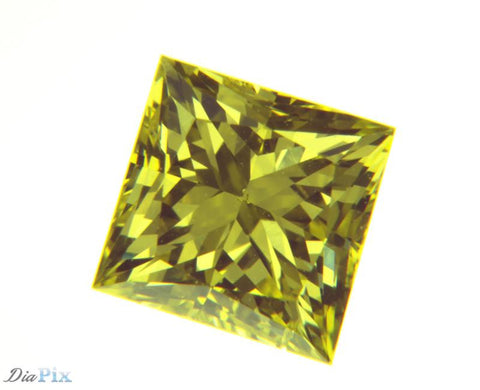 0.57 Ct. Princess VS2 Fancy Yellow