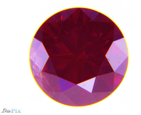 0.68 Ct. Round Brilliant I2 Fancy Purple Red