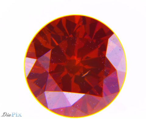 0.33 Ct. Round Brilliant SI1 Fancy Intense Purplish Pink