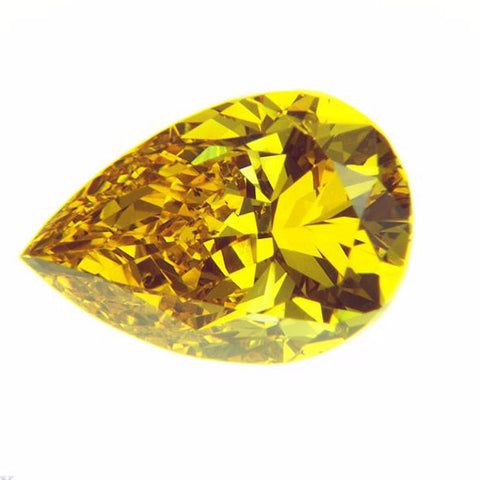 0.82 Ct. Pear Brilliant SI1 Honey Vivid Yellow-Orange
