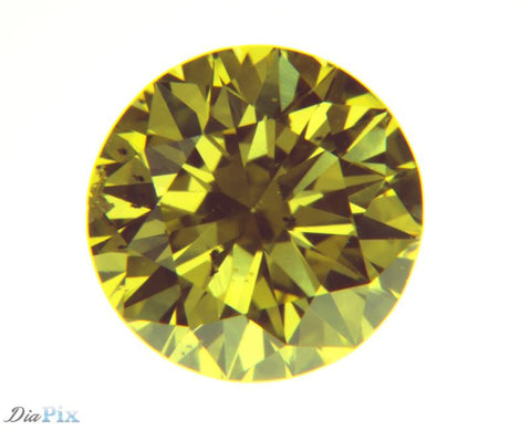 0.47 Ct. Round Brilliant SI1 Fancy Intense Yellow