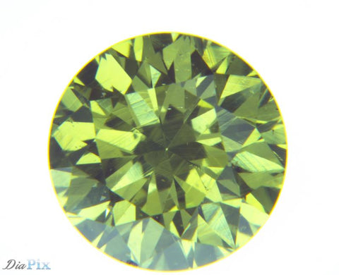 0.50 Ct. Round Brilliant SI1 Fancy Greenish Yellow
