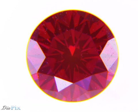 0.39 Ct. Round Brilliant VVS1 Fancy Deep Orangy Pink