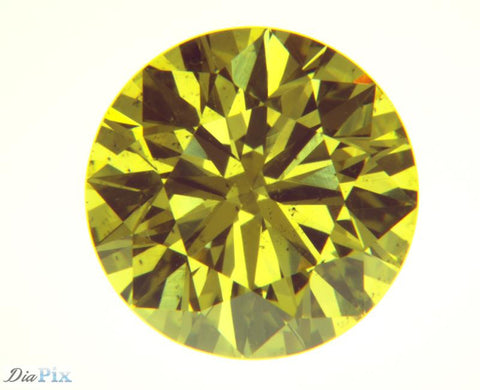 1.04 Ct. Round Brilliant VS2 Fancy Vivid Yellow