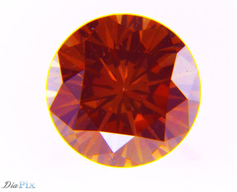 0.53 Ct. Round Brilliant VVS2 Fancy Deep Pink-Orange