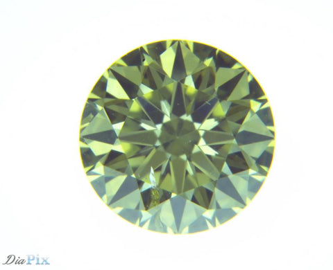 0.55 Ct. Round Brilliant SI2 Fancy Intense Yellow Green