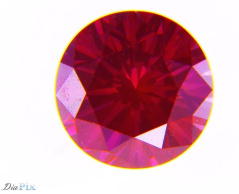 0.61 Ct. Round Brilliant VS1 Fancy Purplish Red