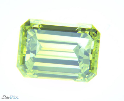0.95 Ct. Emerald SI2 Fancy Vivid Greenish Yellow