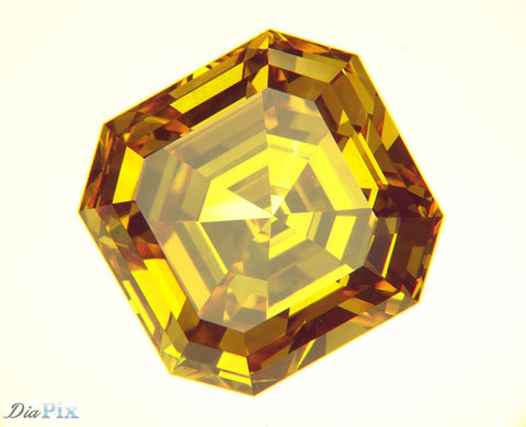 1.60 Ct. Asscher VS1 Honey Vivid Yellow-Orange