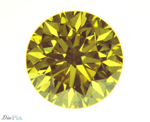 0.79 Ct. Round Brilliant VS1 Fancy Vivid Yellow