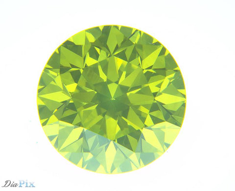0.72 Ct. Round Brilliant VVS2 Citrus Fancy Vivid Green-Yellow