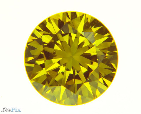 0.38 Ct. Round Brilliant VS1 Fancy Vivid Yellow Orange