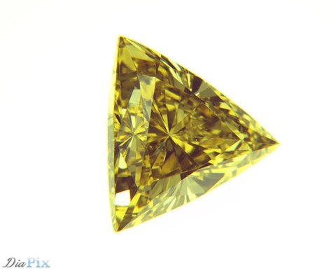 0.29 Ct. Triangle VS2 Fancy Yellow